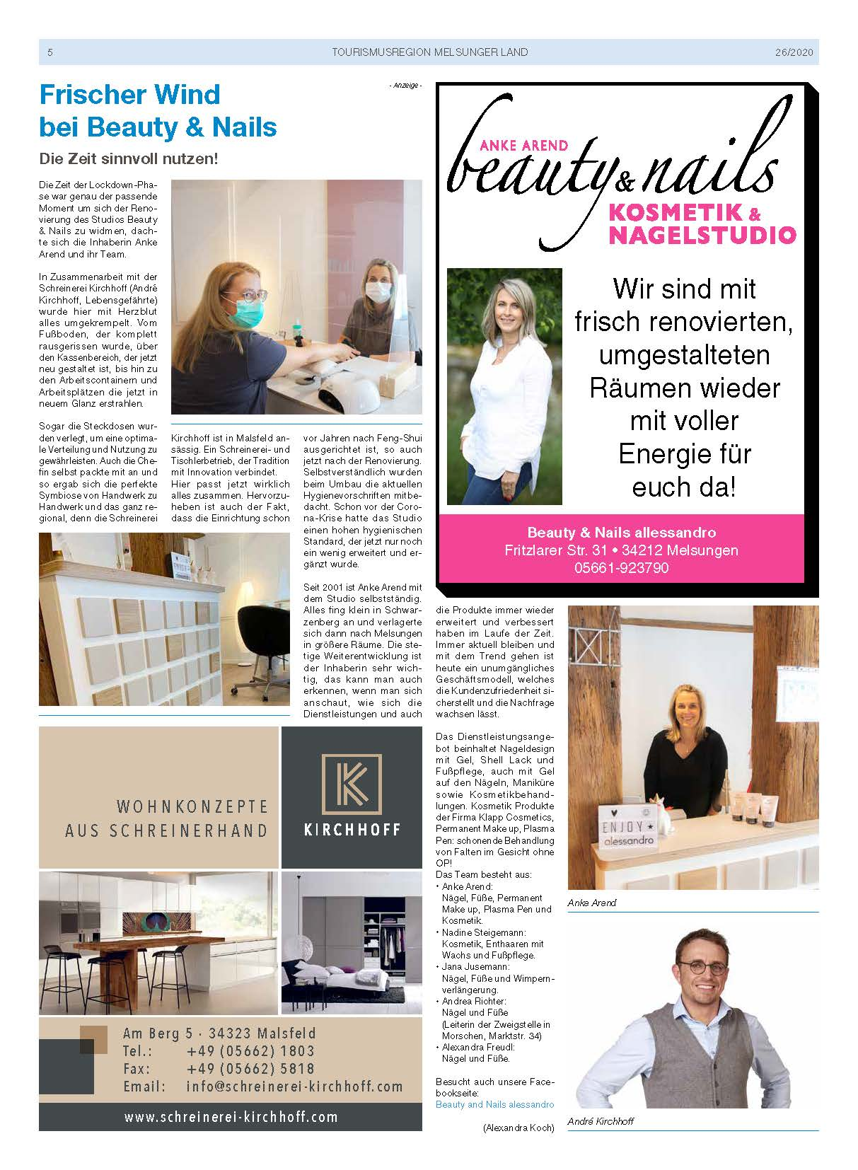 Renovierung des Studios Beauty & Nails